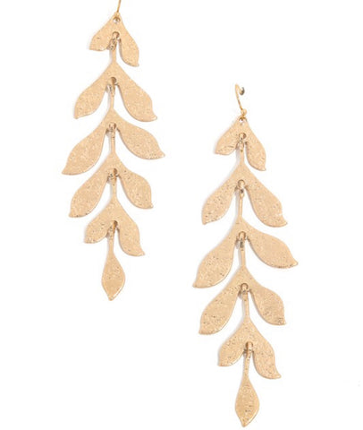 You're Vine Earrings in Gold
