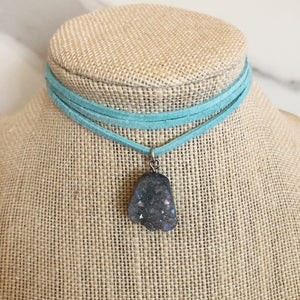 Light Gray Stone Choker