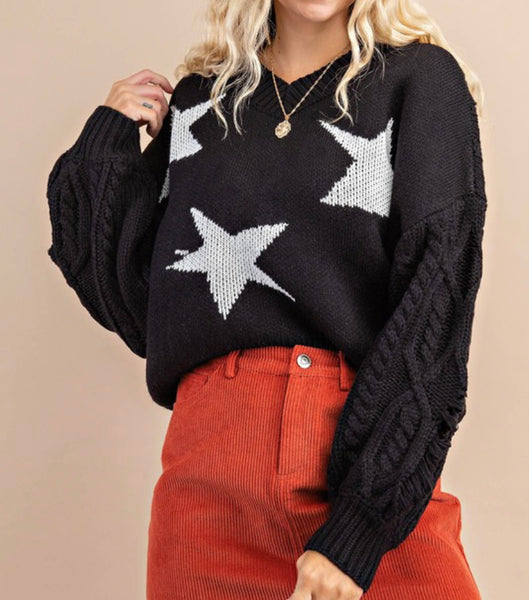 Seeing Stars in Black Sweater
