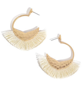 Make A Move Earrings in Ivory