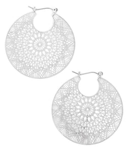 Fresh Air Earrings in Silver