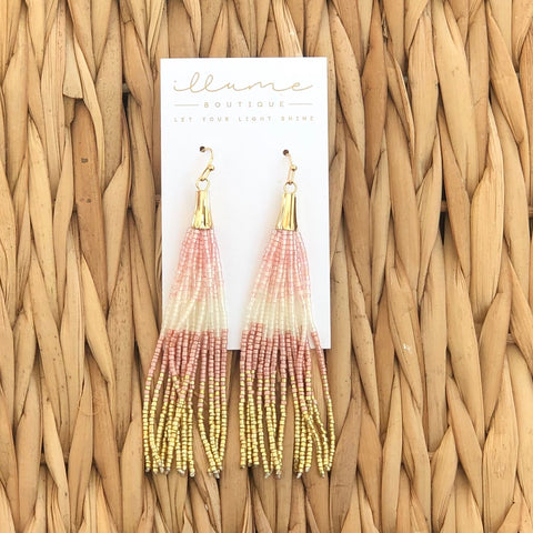Bead There Done That Earrings in Blush