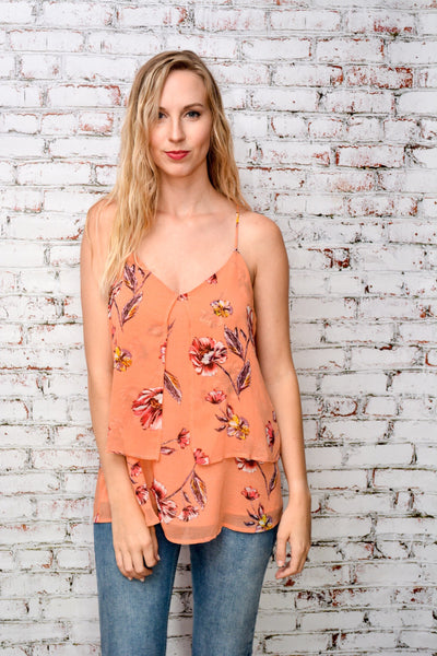 Feathered Floral Top