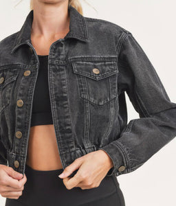 Raw & Ribbed Cropped Jacket