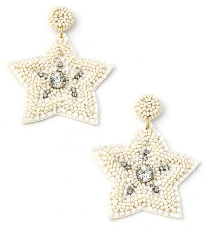 Stars Are Out Earrings in White