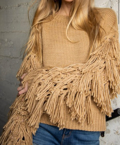 Fringing Ain't Easy Sweater