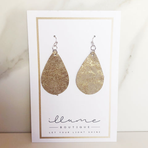 Gold & Camel Teardrop Duo