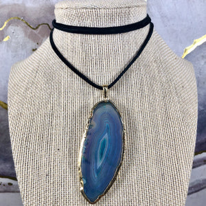 Periwinkle Spin Geode Choker