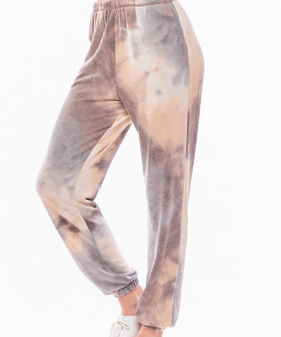 Marble Roll Taupe Loungewear Joggers