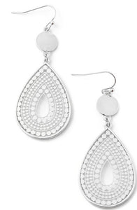 Top Tear Earrings in Silver
