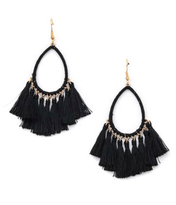Hang Tight Earrings in Black