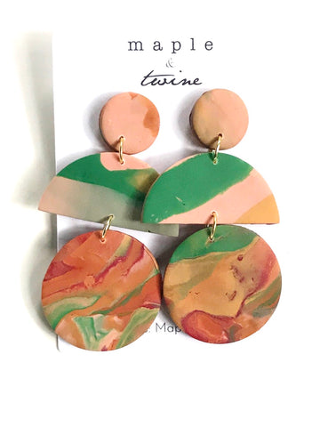 Greener Side Clay Earrings