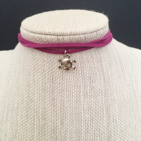 Pirate Charm Suede Choker