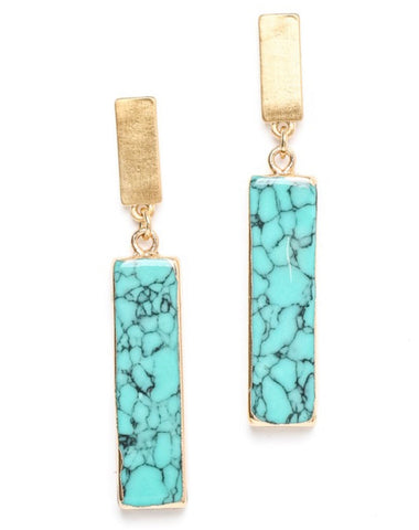 Set it Straight Earrings in Turquoise