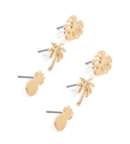 Beach Please Stud Earrings
