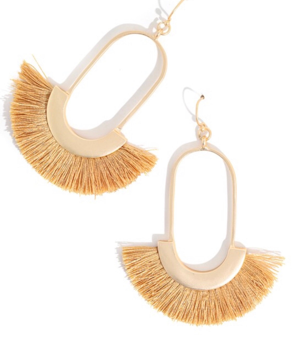 Run A Lap Earrings in Mustard