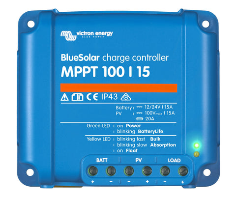 Controllers - BlueSolar MPPT Charge Controller 100-15 SCC010015200R