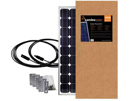Samlex 100 Watt Solar Panel Kit SSP-100-KIT - Adventure RV Solar, RV Solar Panel Kits - RV Solar, Samlex- Adventure RV Solar