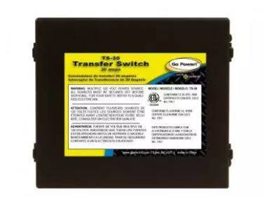 Go Power! 30 Amp Transfer Switch TS-30 - Adventure RV Solar, Accessories - RV Solar, Go Power!- Adventure RV Solar