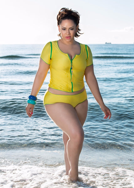 """Pretty N Playful"" Plus Size Two-Piece Swimsuit"