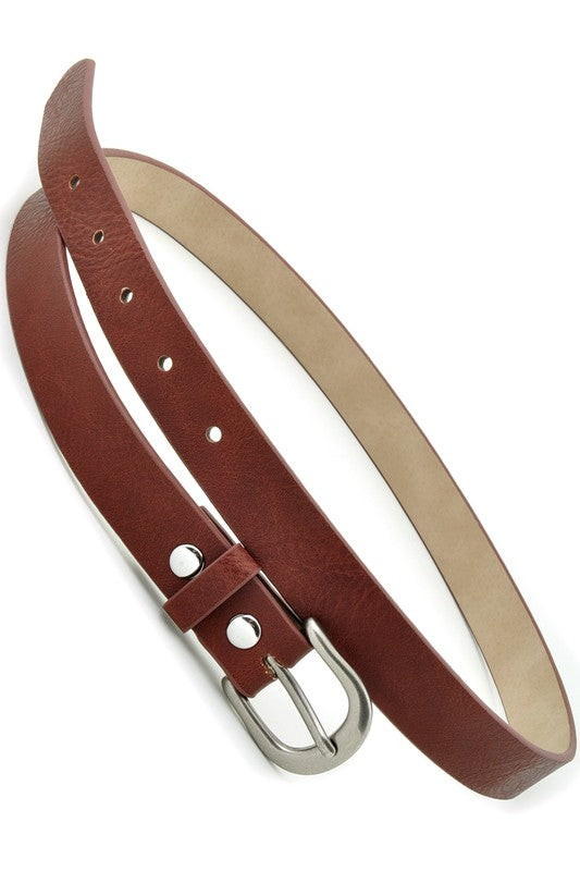 Hold On To Me Skinny Belt, Brown