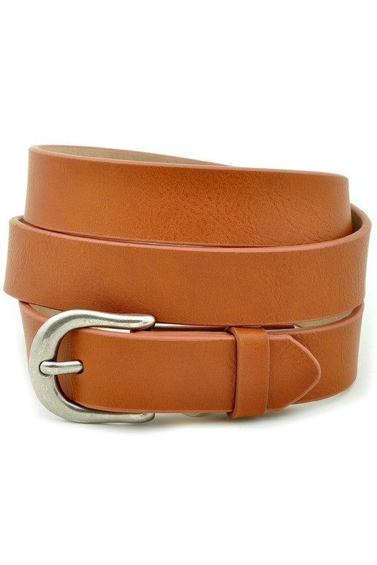 Hold On To Me Skinny Belt, Tan