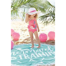PINK SEQUIN MERMAID ONE PIECE SWIMSUIT
