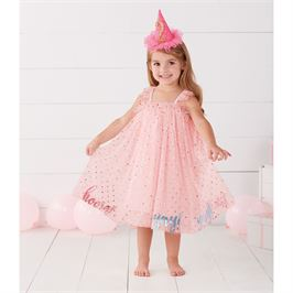 PINK YAY MESH OVERLAY PARTY DRESS