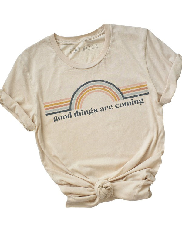 Good Things Are Coming Graphic Tee, Cream