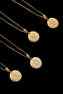 Initial Pendant Necklace, Gold