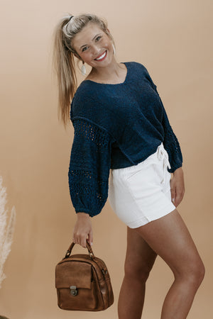 Wish The Best Sweater, Navy