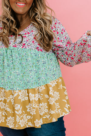 All About Floral Blouse, Pink