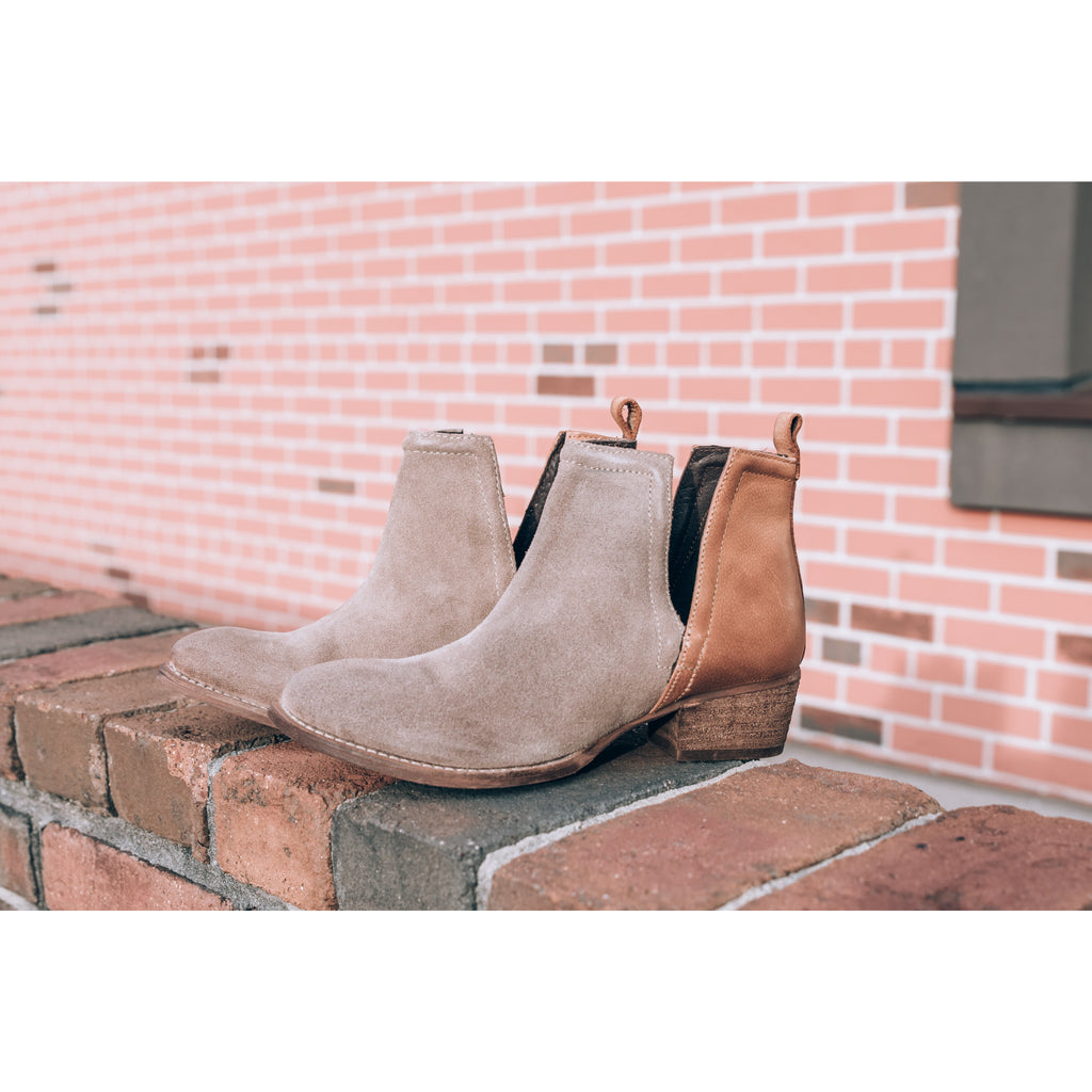 Stop By Bootie - Suede/Leather Duo