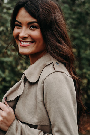 Feeling Chic Suede Jacket , tan