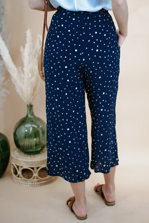 Willow Wide Leg Pants , Navy