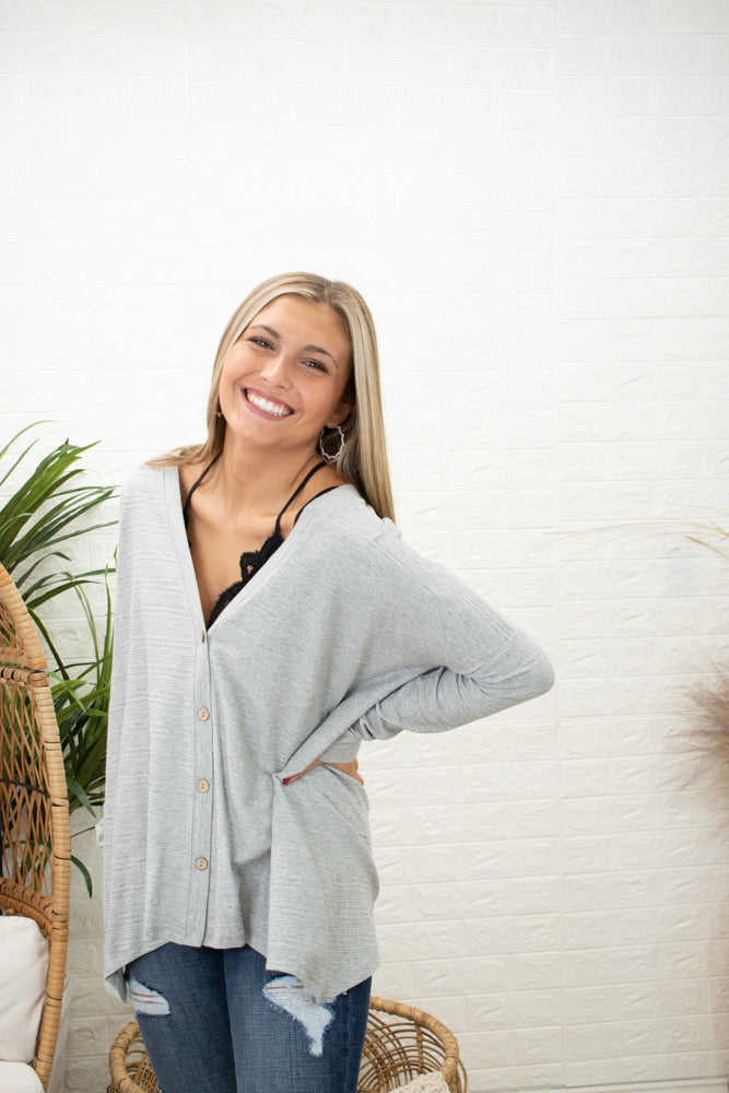 Mova Lightweight Button Up Cardi