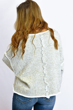 Trendsetter Sweater, Heather Taupe