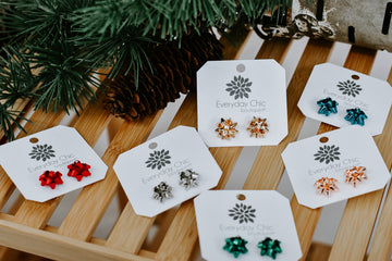 Gift Bow Studs
