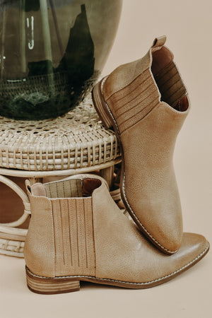 As Far As You Go Bootie, Taupe