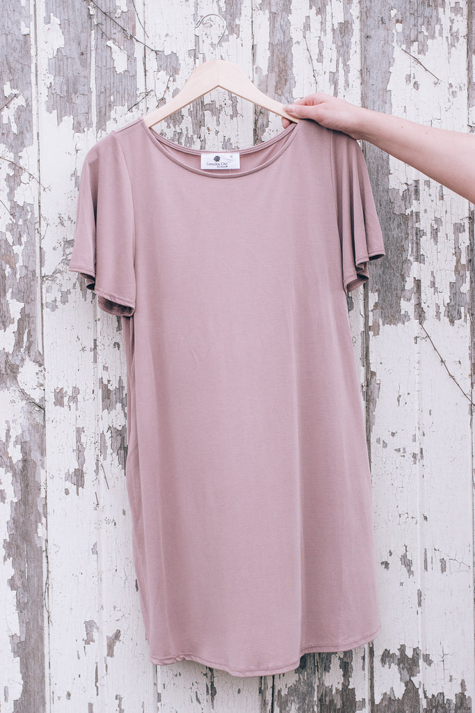 Be Basic Pocket Dress , Mauve
