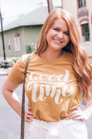 Good Time Graphic Tee , Mustard