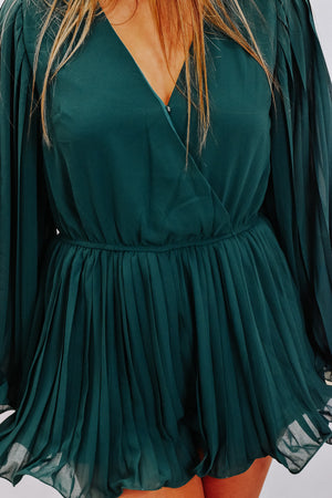 Meet Me At Midnight Romper , Emerald