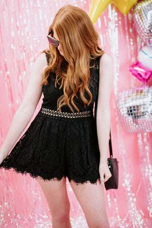 Promise In My Heart Romper , black