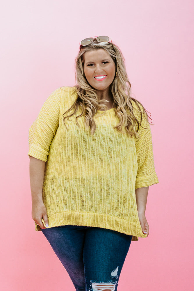 Relentless Knit Top, Lime