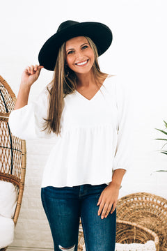 Living In Bliss Top , Ivory
