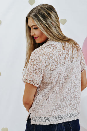 Oh So Sweet Lace Top , mauve
