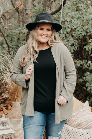 Patch Me Up Cardi +, Olive