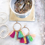 Frankie Fringed Earrings, Fiesta