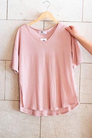 All I Want Basic Tee , Pink