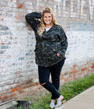 CURVY Washed Camo Utilitarian Jacket